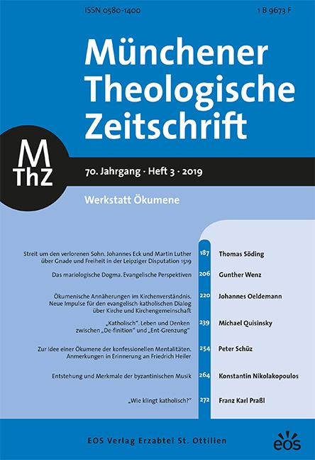 Münchener Theologische Zeitschrift 70 (2019/3)
