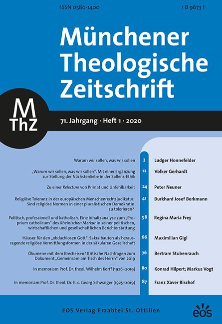 Münchener Theologische Zeitschrift 71 (2020/1)