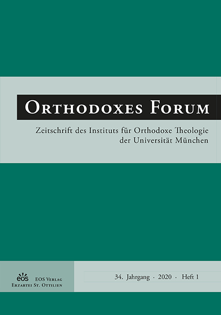 Orthodoxes Forum 34 (1/2020)