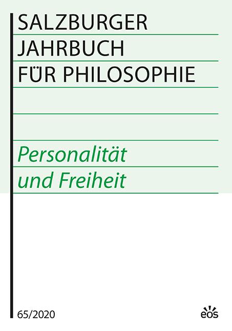Salzburger Jahrbuch für Philosophie 65 (2020)