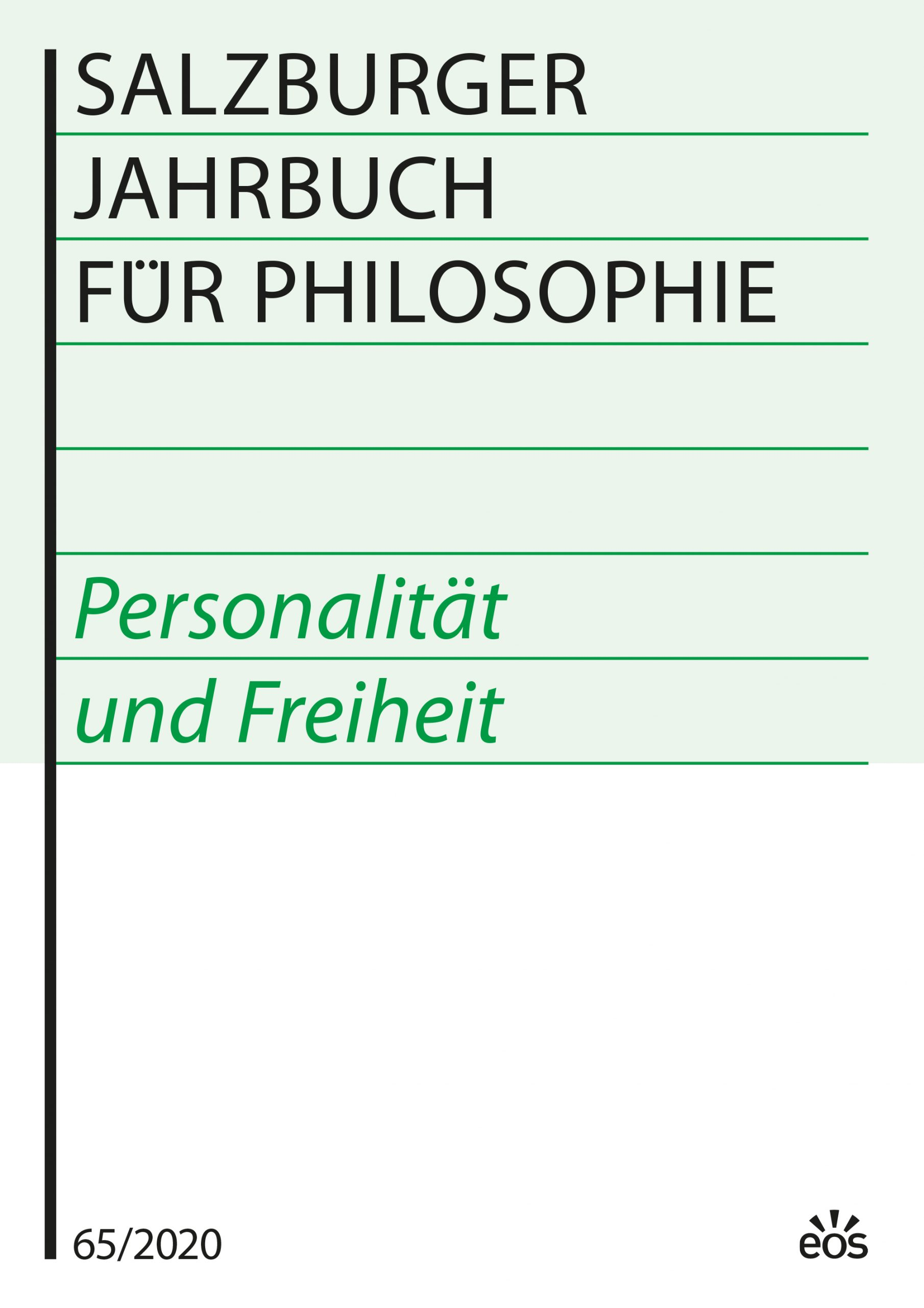 Salzburger Jahrbuch für Philosophie 65/2020 (ebook)