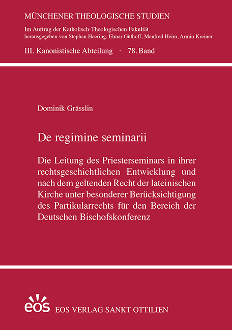 De regimine seminarii (ebook)