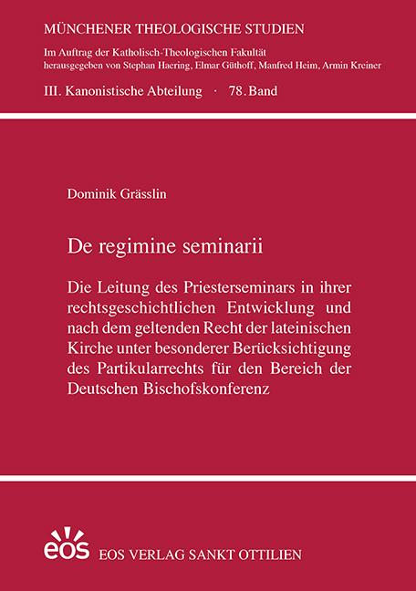 De regimine seminarii