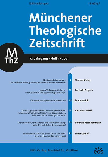 Münchener Theologische Zeitschrift 72 (2021/1)
