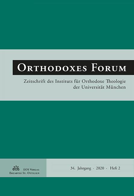Orthodoxes Forum 34 (2/2020)