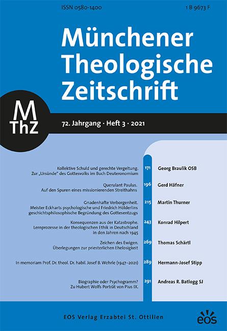 Münchener Theologische Zeitschrift 72 (2021/3)